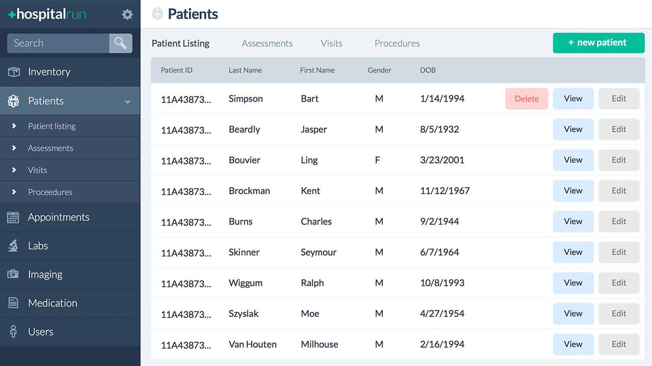 Top 10 Open Source Amp Free His Hospital Information