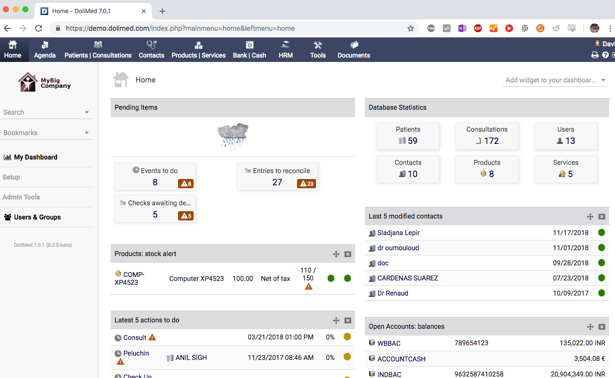 7 Open source ERP-based Patient Records Management Solutions
