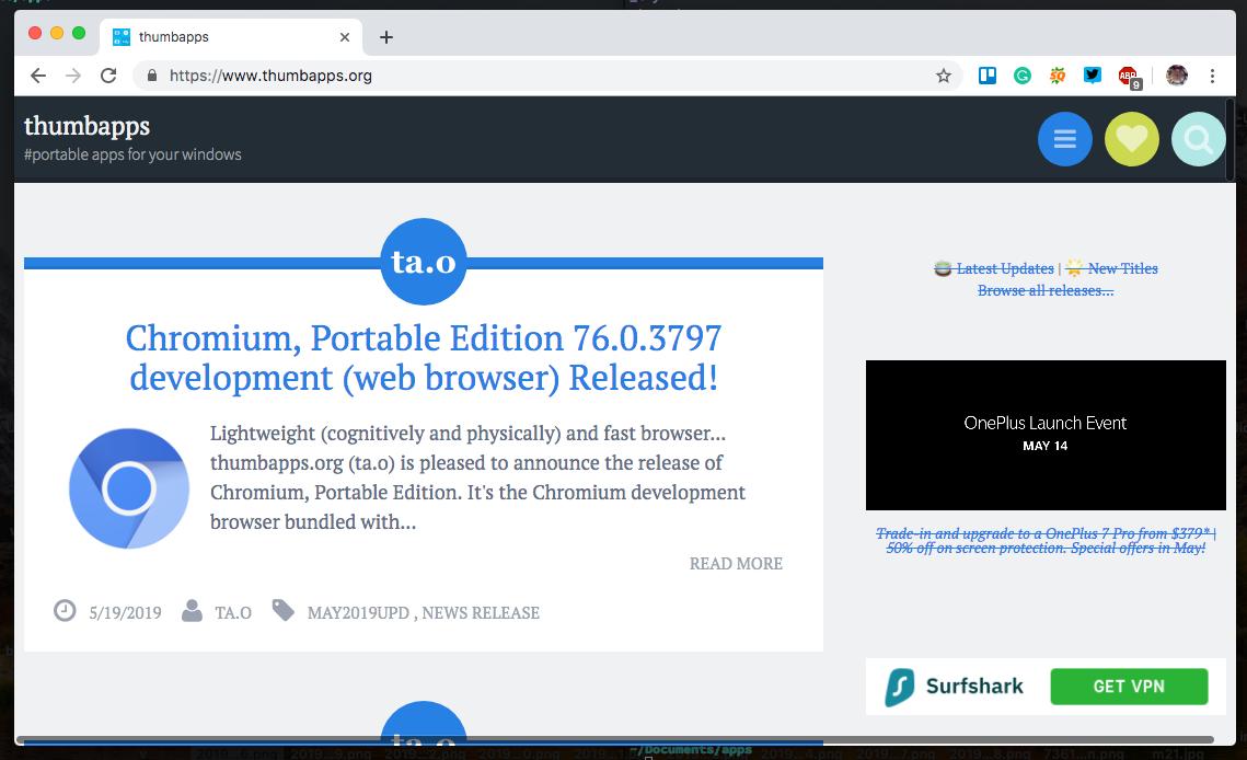 ThumbApps: Hundreds of Portable Open source (Freeware/ FOSS