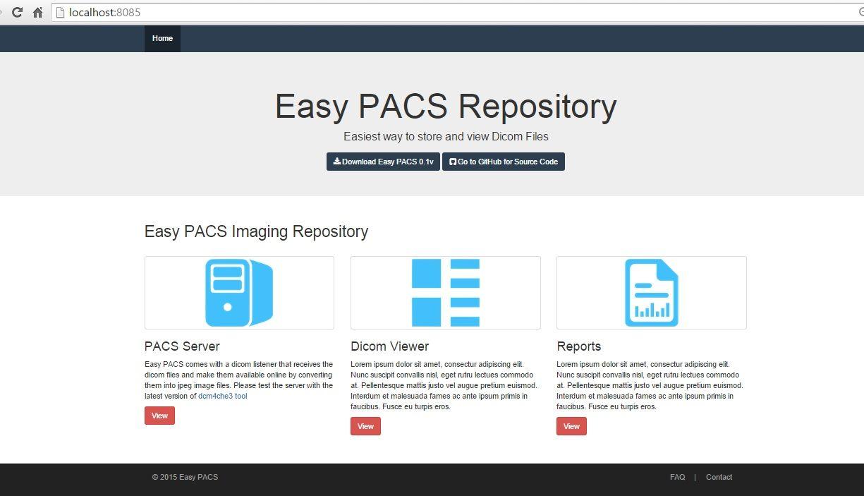 EasyPACS: Free Open source DICOM/ PACS server in single file