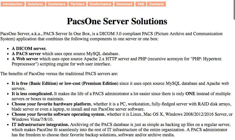 Top 10 Free Open source PACS/ DICOM Server Projects