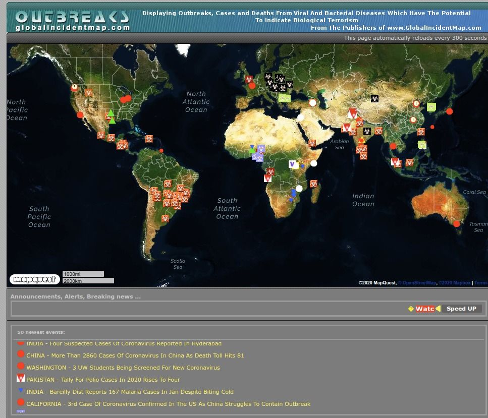 Outbreaks Monitor