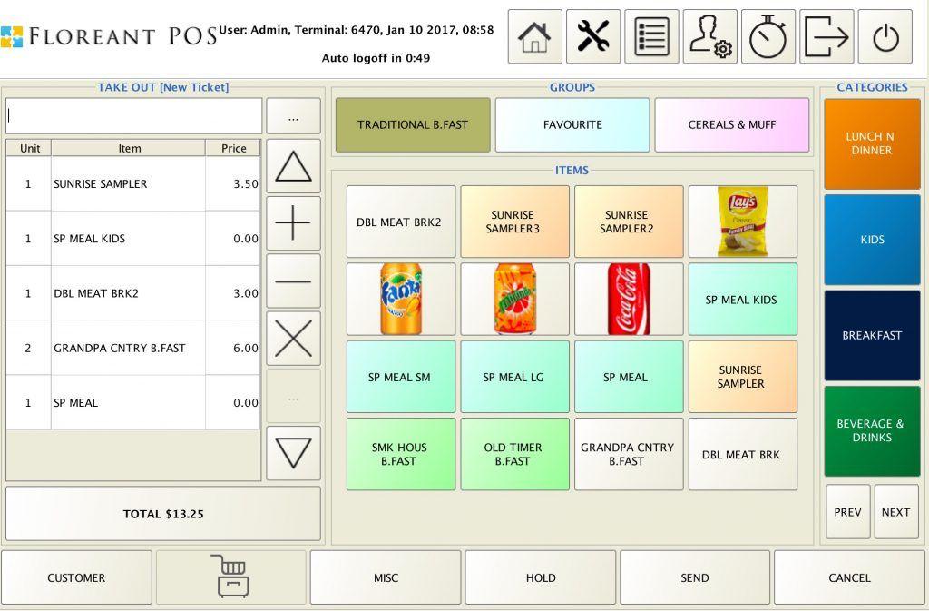 Floreant POS system