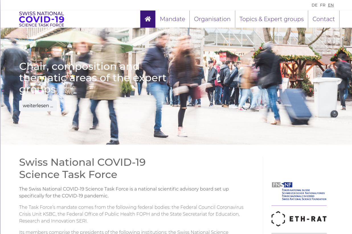 Switzerland initiated COVID-19 Science Task Force
