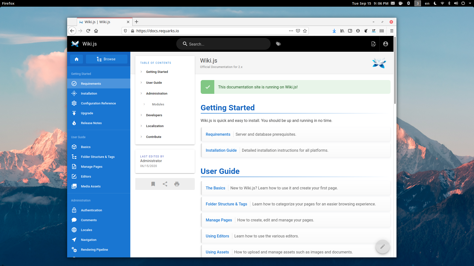 Wiki.js A Modern Open source Wiki Engine for the Enterprise