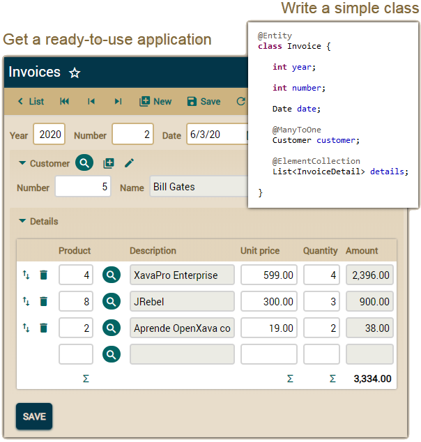 OpenXava an open-source cross-platform low-code web framework  for enterprise