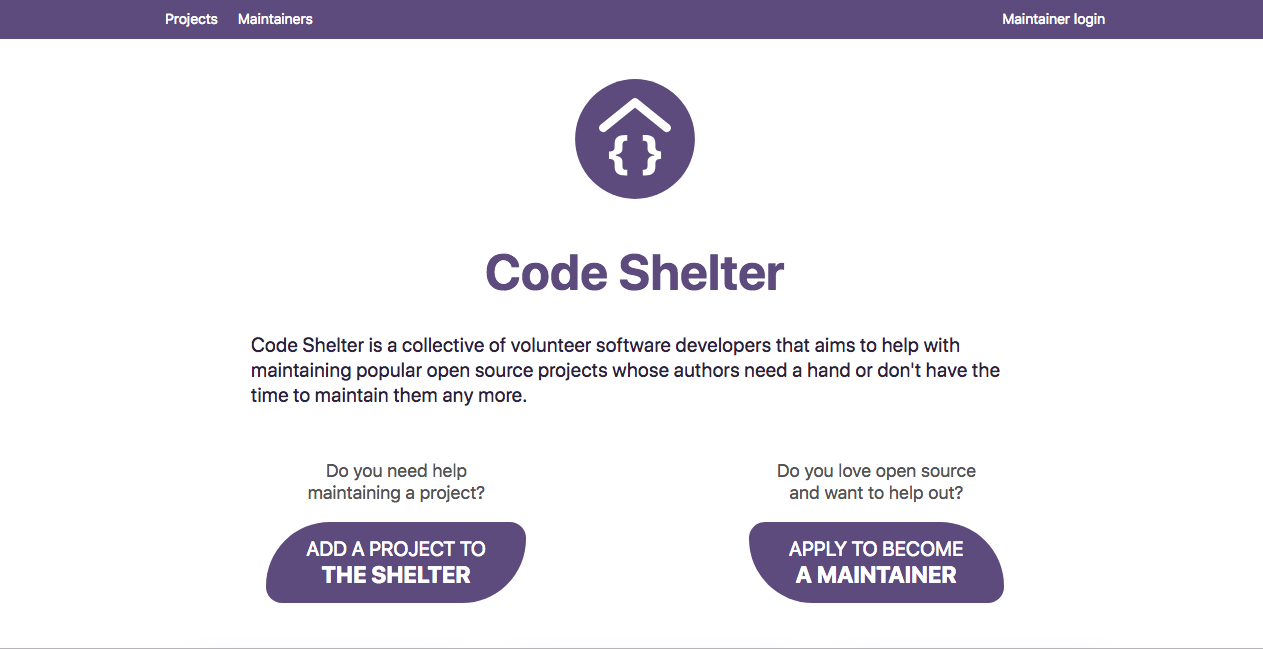 CodeShelter, hope for abandoned medical/ healthcare  open source projects!