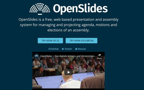 OpenSlides: Free Open source Assembly Management Solution