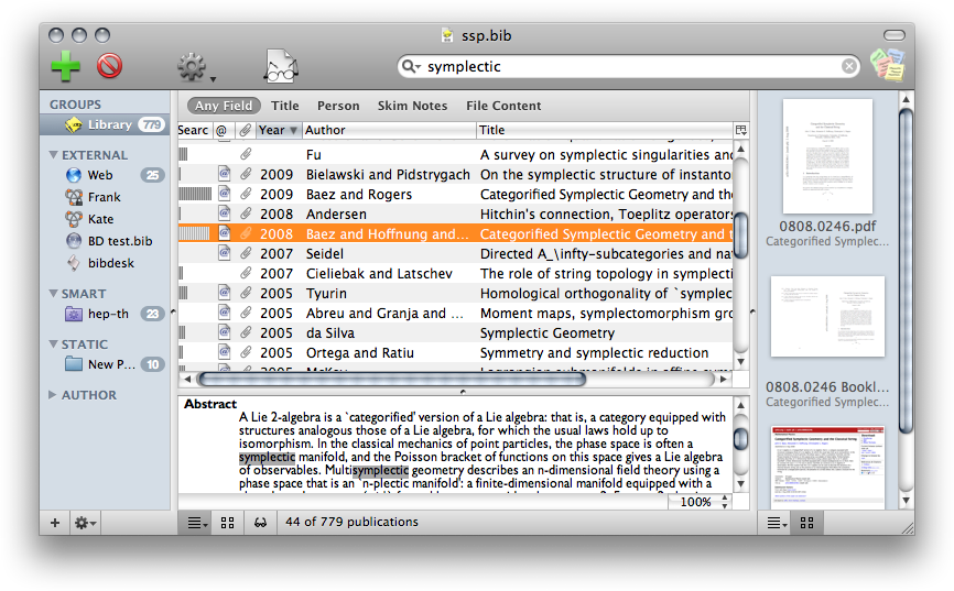 BibDesk: Free Open-source Reference and Bibliography Manager
